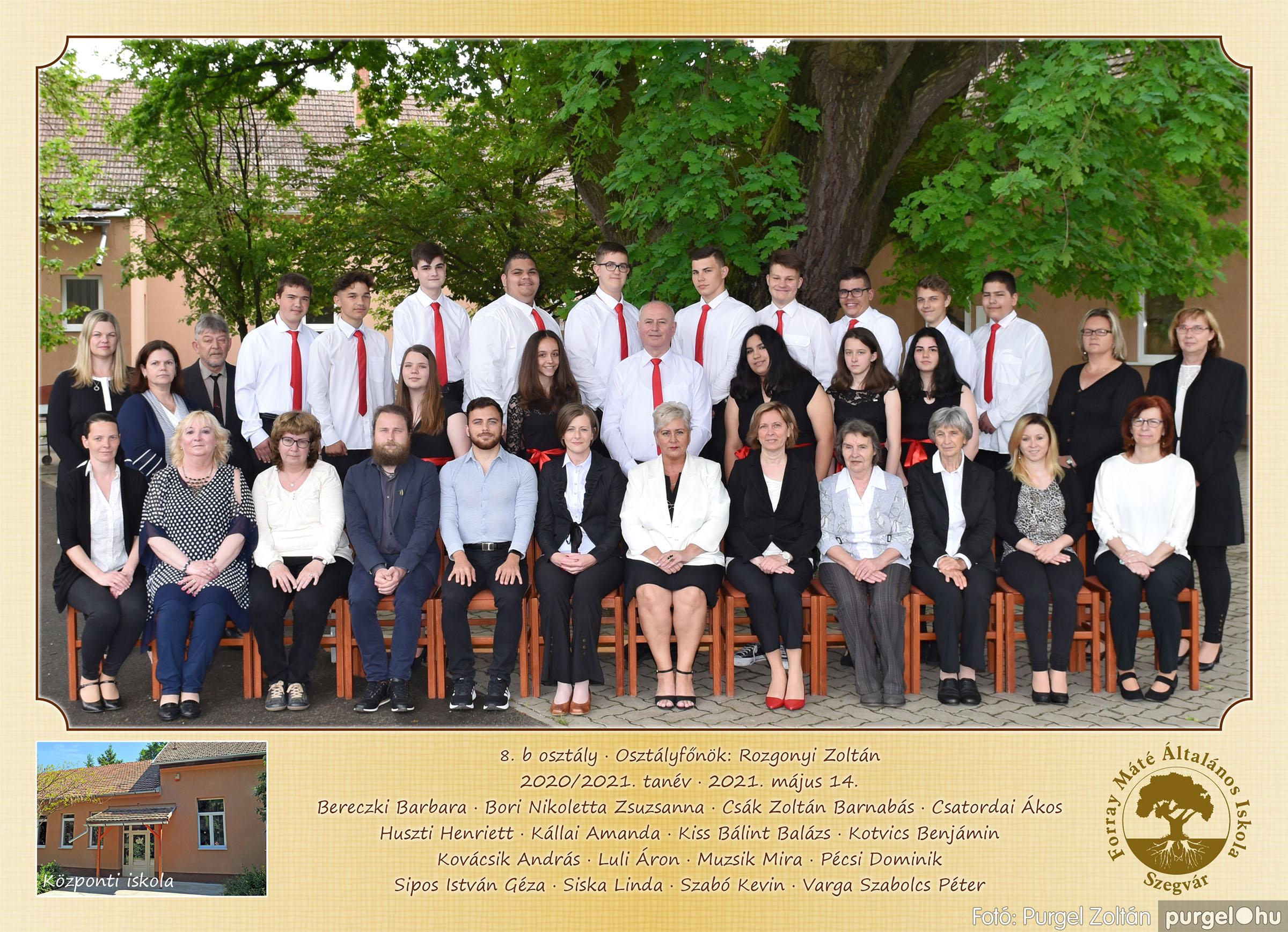 2021.05.13-06.12. 010 Forray Máté Általános Iskola osztályképek 2021. 8.b osztály - Fotó:PURGEL ZOLTÁN©.jpg