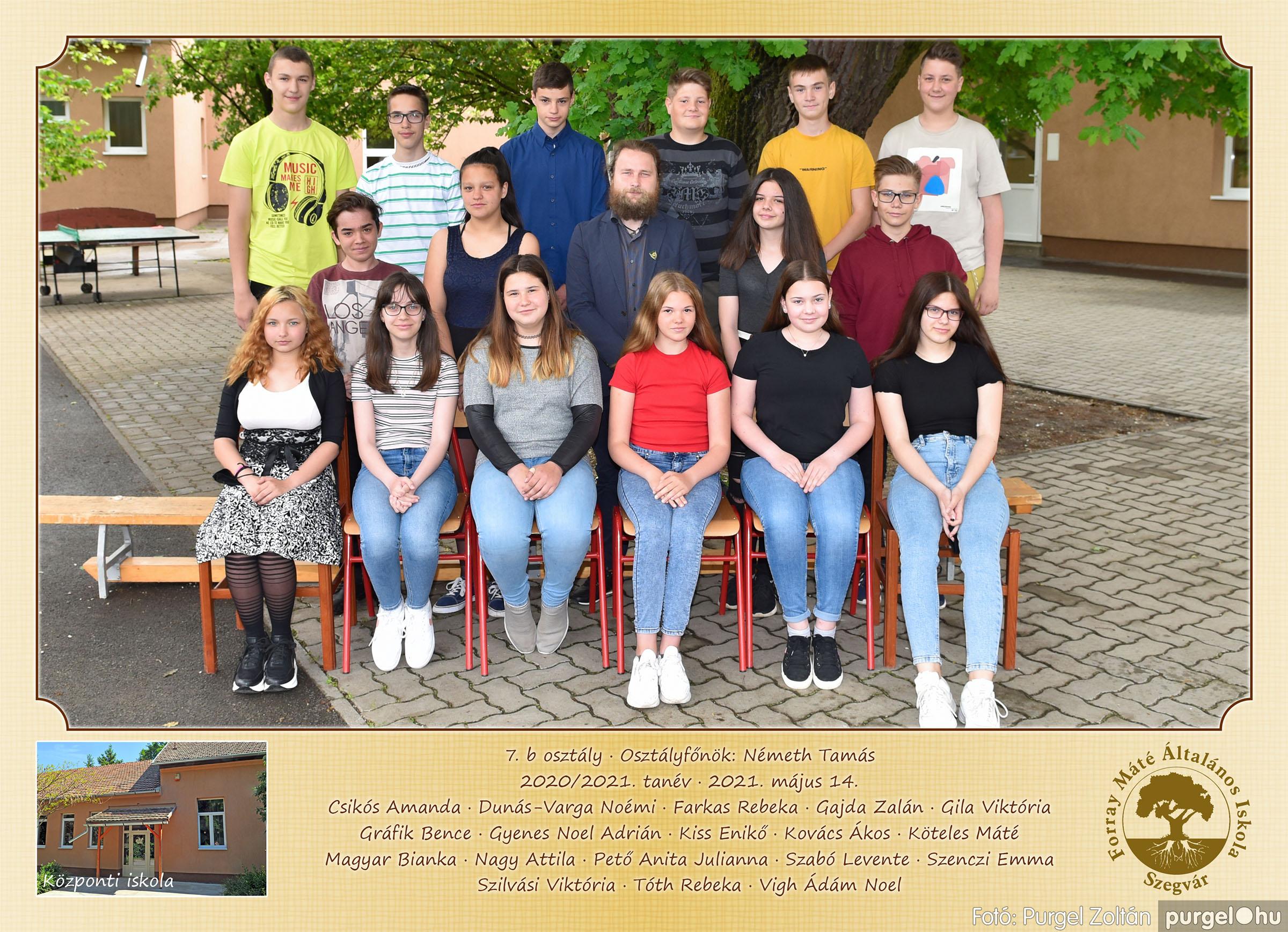 2021.05.13-06.12. 008 Forray Máté Általános Iskola osztályképek 2021. 7.b osztály - Fotó:PURGEL ZOLTÁN©.jpg