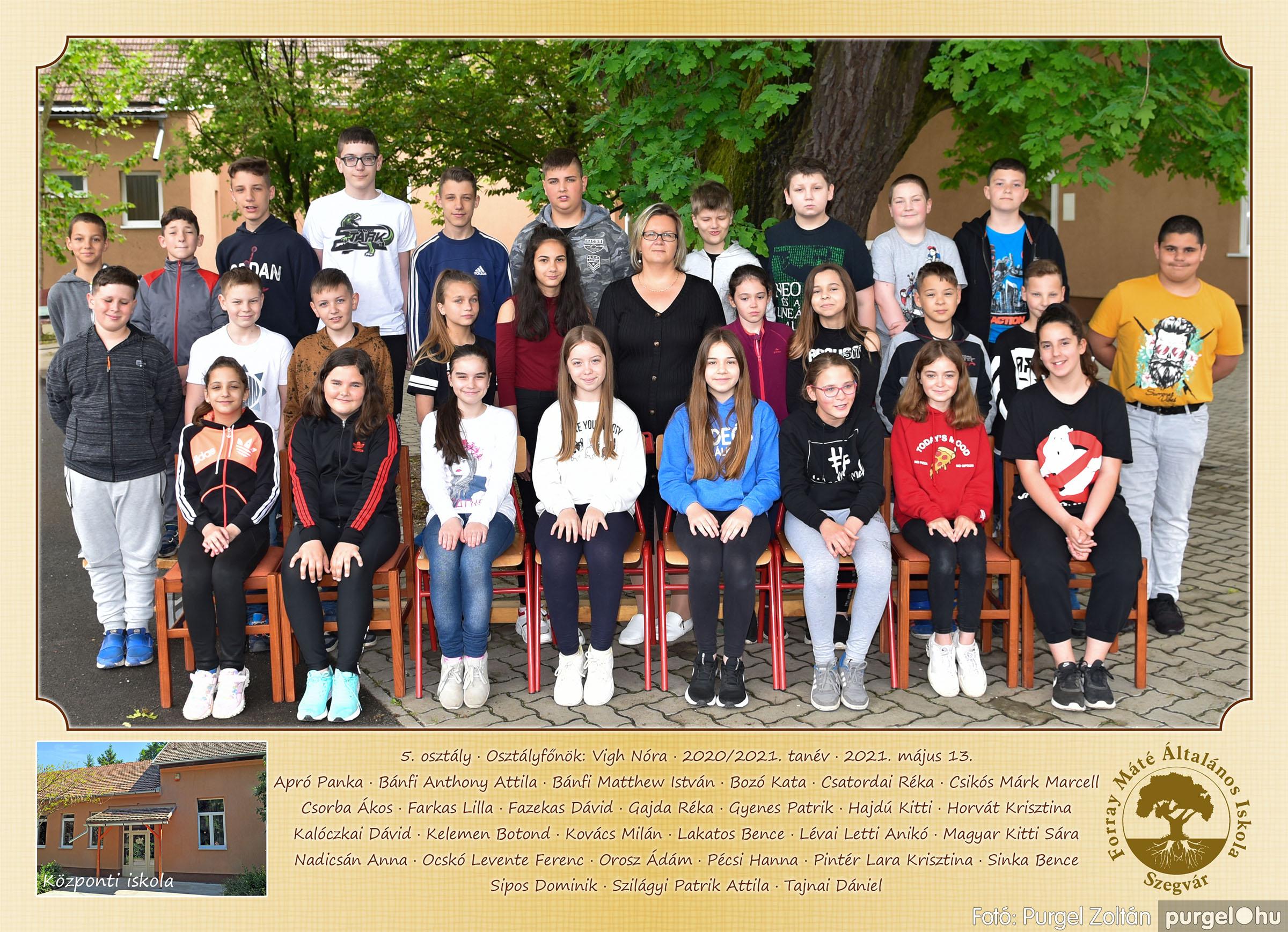 2021.05.13-06.12. 005 Forray Máté Általános Iskola osztályképek 2021. 5. osztály - Fotó:PURGEL ZOLTÁN©.jpg