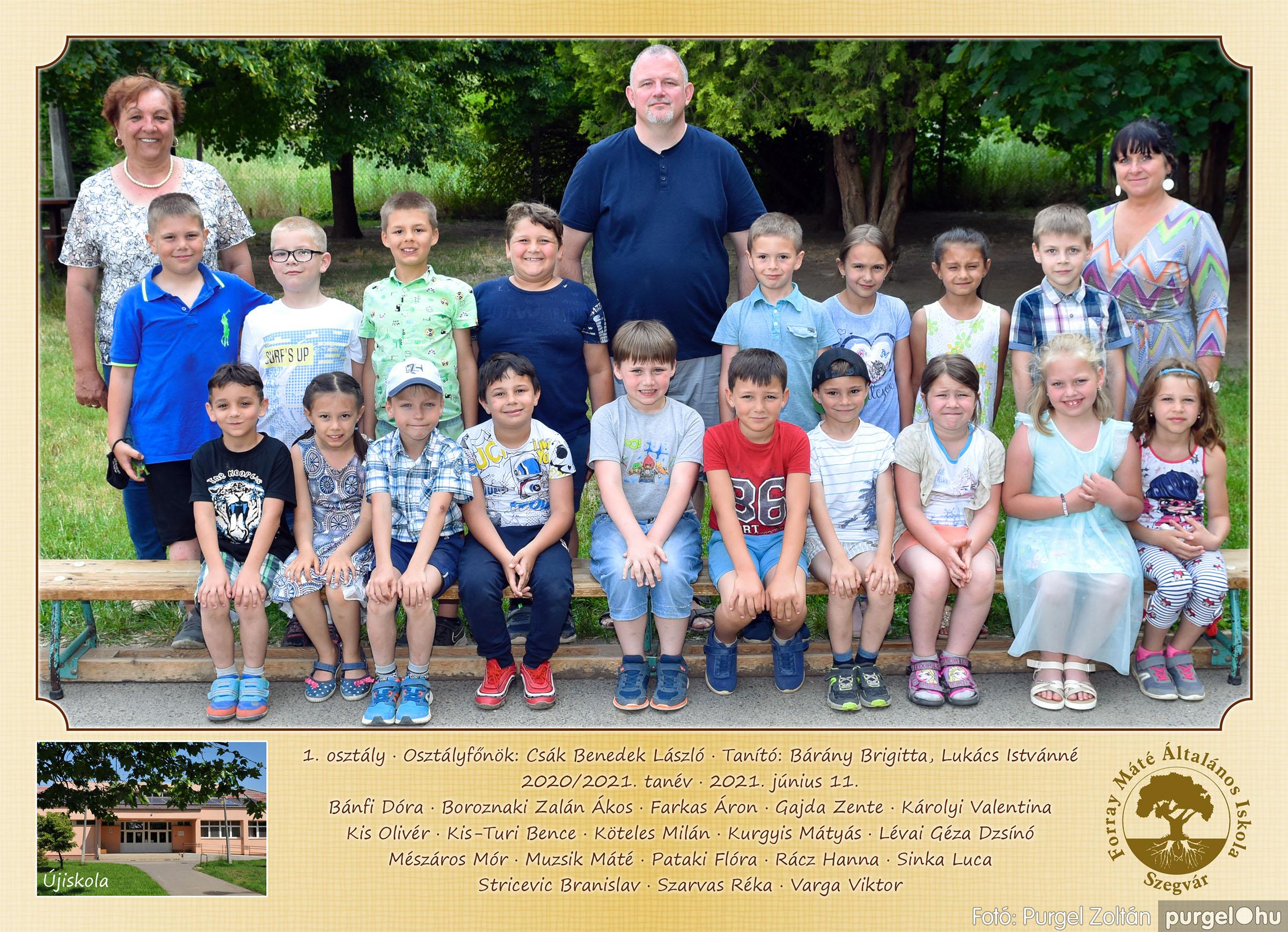 2021.05.13-06.12. 001 Forray Máté Általános Iskola osztályképek 2021. 1. osztály - Fotó:PURGEL ZOLTÁN©.jpg