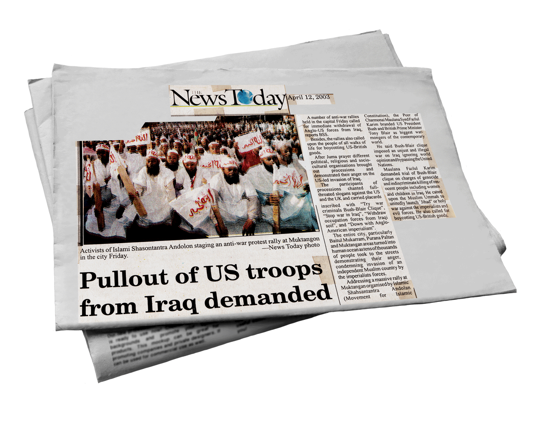 Pullout of US troops from Iraq demanded