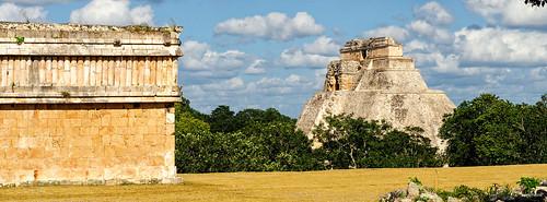 Panorama de Casa de las Tortugas y Pirámide del Adivino