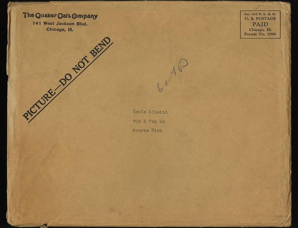 Quaker Oats Ruth - Envelope