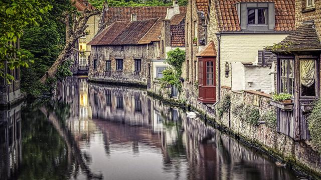 Bruges, Canal, Belgium