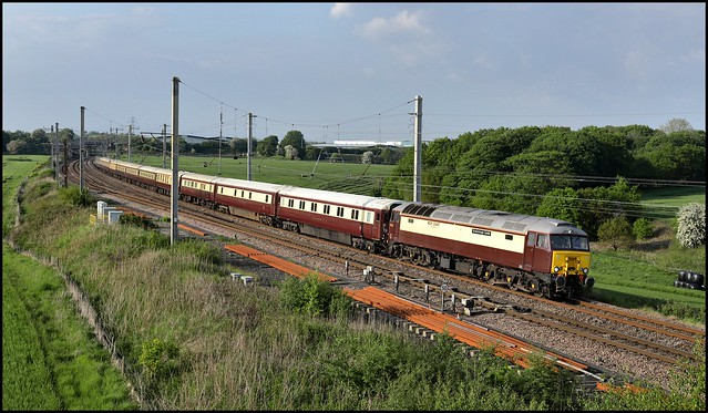 Golborne Junction, WCRC 57313 'Scarborough Castle'  1Z16 (14.15 Carlisle - York) 29/05/21.