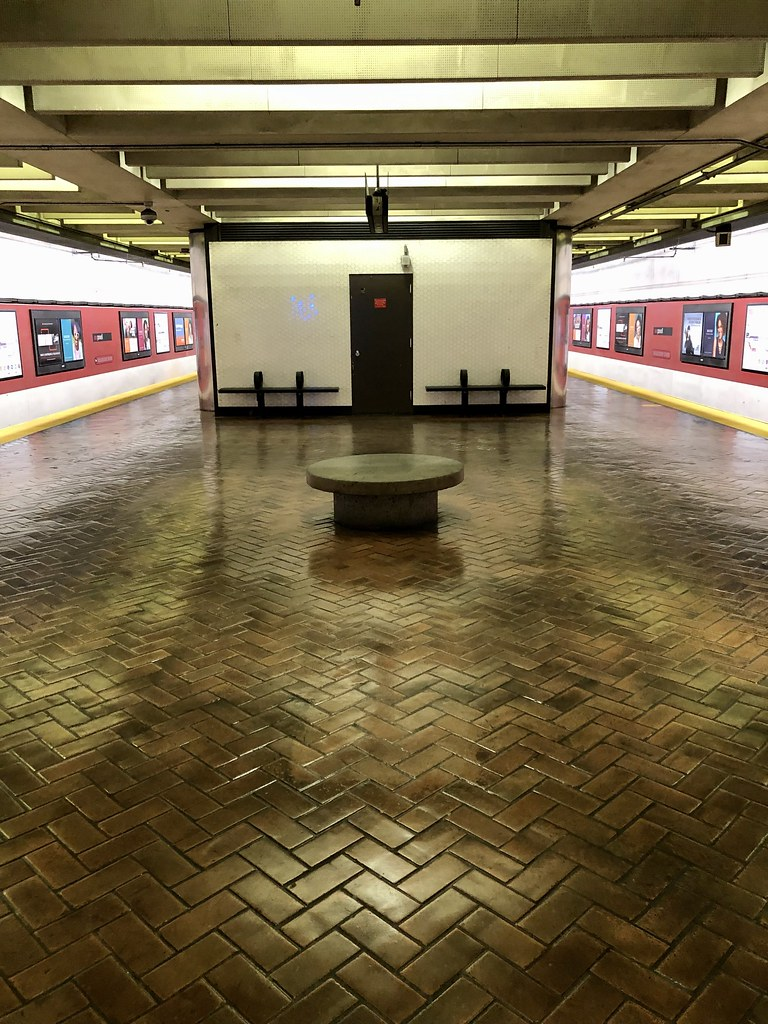 Streetcar station symmetry (waiting for the N Judah)