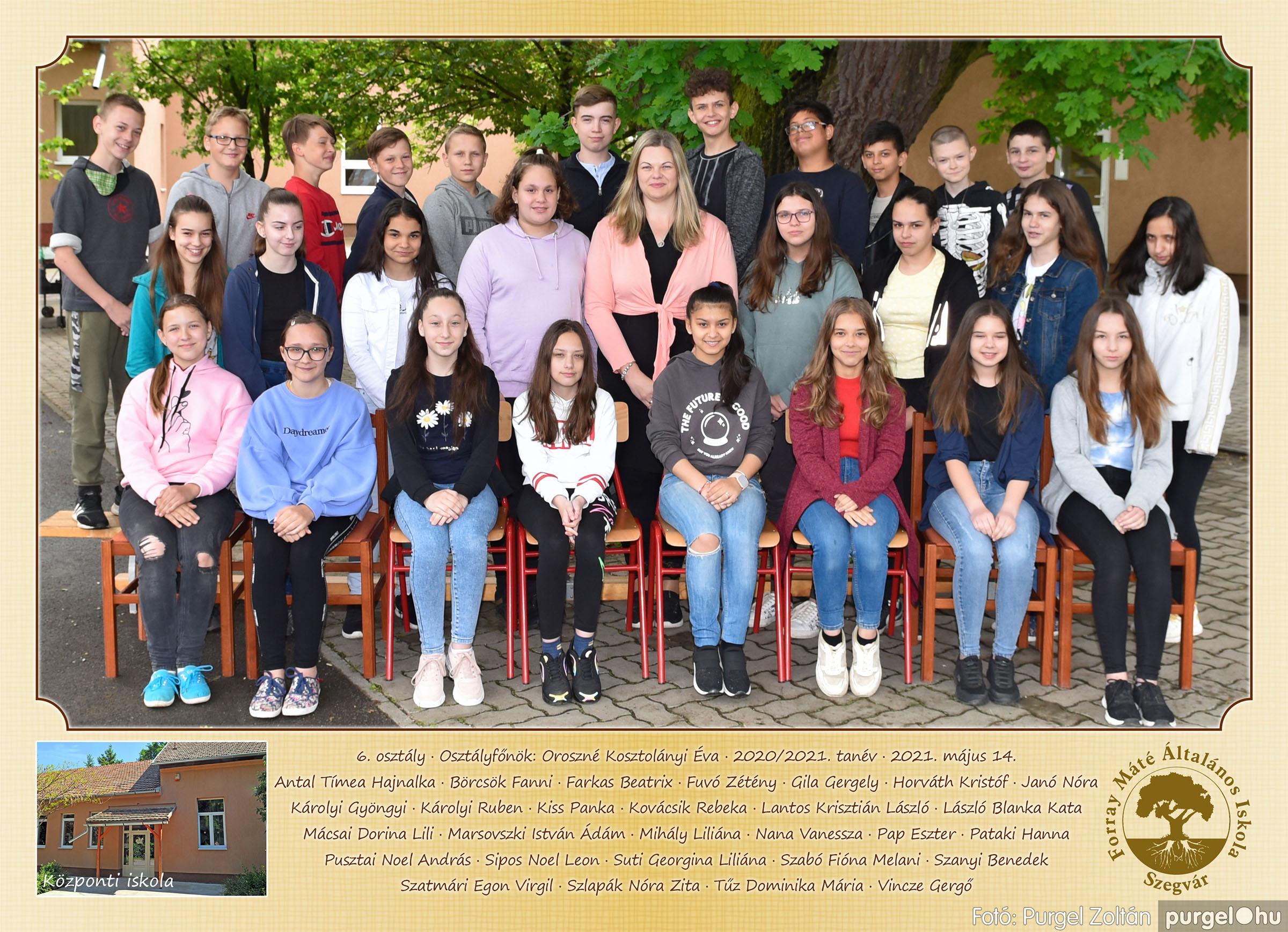 2021.05.13-06.12. 006 Forray Máté Általános Iskola osztályképek 2021. 6. osztály - Fotó:PURGEL ZOLTÁN©.jpg
