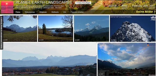 Gruppe Planet Earth Landscapes