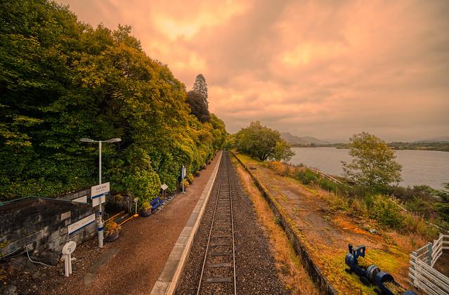 Loch Awe train station, Scotland.