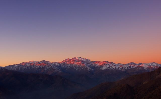 Sunset over Cerro El Plomo