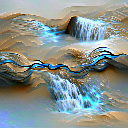 'flowing water' VQGAN+CLIP v3 Text-to-Image