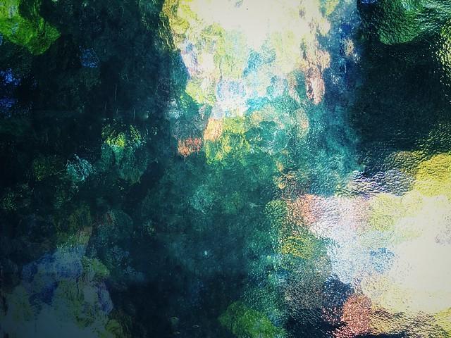 Look through texture glass.       Multiple exposure