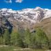 View of Monte Rosa, Gressoney La Trinitè, Valle D'Aosta, Italy