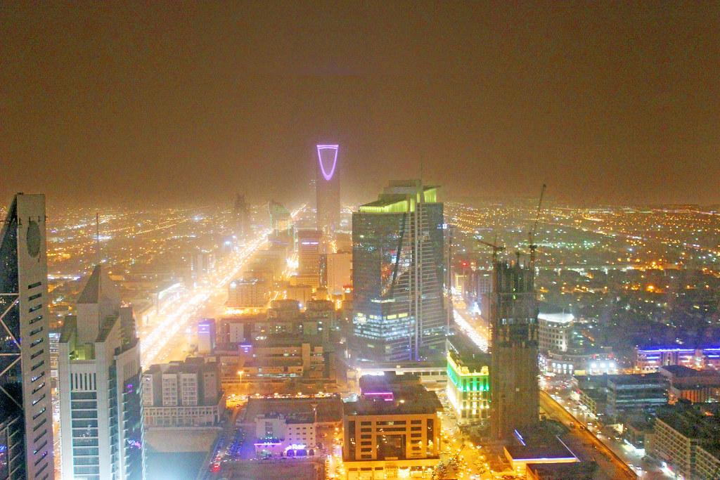 Riyadh Kingdom Tower from the Faisaliah (PS)