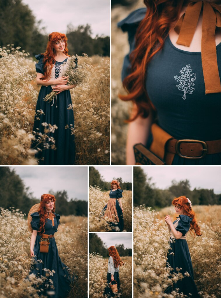 cottagecore dress, slow fashion, ethical fashion blogger, nour and the merchant, cottagefairy, linen dress, cottagecore aesthetic
