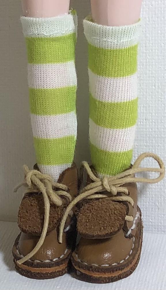 Key Lime Stripes…Tall Socks For Blythe…