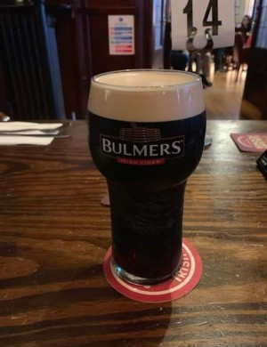 bad pint in bulmers glass