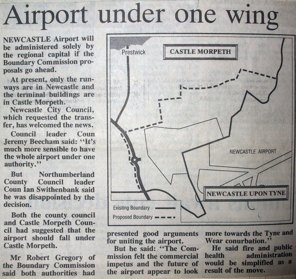 Boundary Changes Plans, Newcastle Airport etc (1)