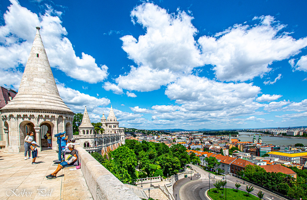 Hungary Budapest - Come up to the Fisherman's Bastion, such a spectacle.