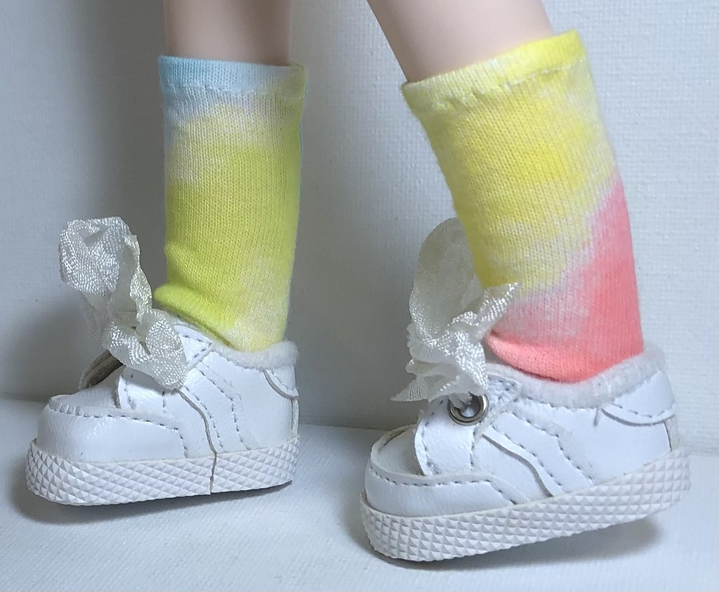 Yellow, Blue And Pink…Short Socks For Gorjuss Dolls…