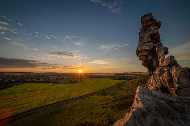 Sonnenaufang über der Teufelsmauer