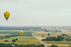 Hot air balloons | Birštonas aerial