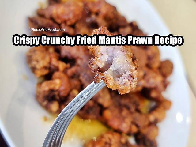 Crispy Crunchy Fried Mantis Prawn Recipe