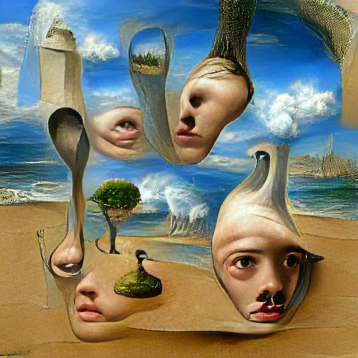 'seascape painting' VQGAN+CLIP v3 Text-to-Image