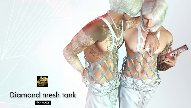 ⭐️ Gild. Diamond mesh tank  – NEW MEN ⭐️