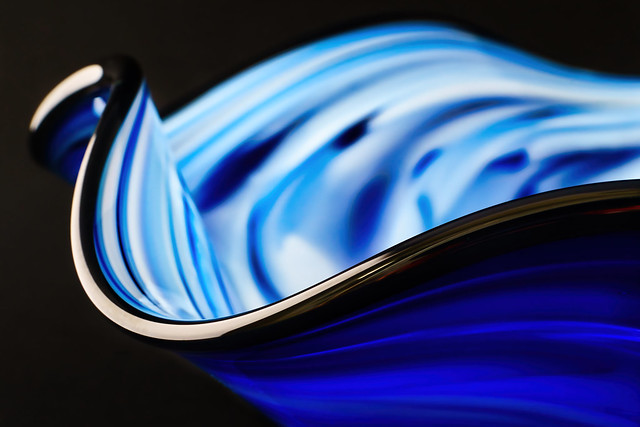 Blue Glass Swirls