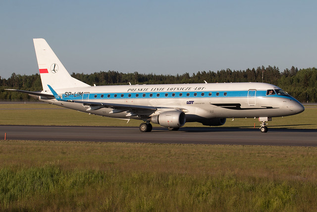 LOT - Polish Airlines Embraer ERJ-175LR SP-LIM 210613 ARN