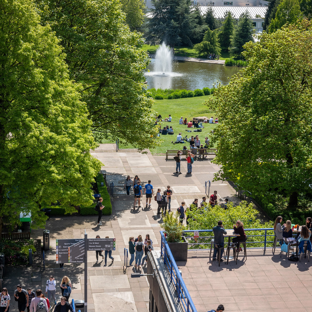 View of campus towards lake