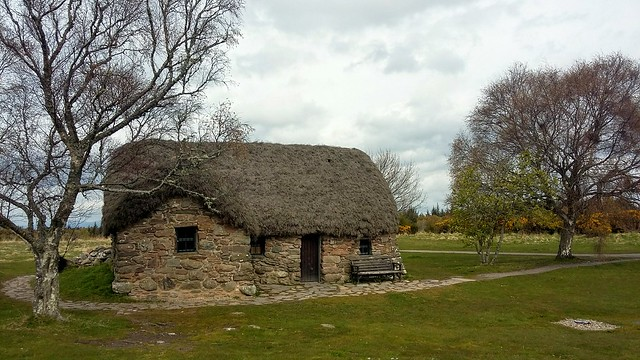 Leanach Cottage, Culloden Battlefield, Inverness, May 2021,