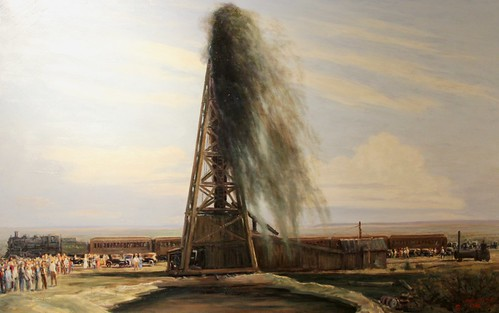 midland texas petroleum museum art painting western oil well blowout