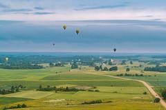 Hot air balloons | Birštonas aerial #165/365