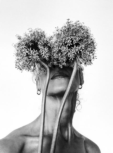 Self with Allium Giganteum