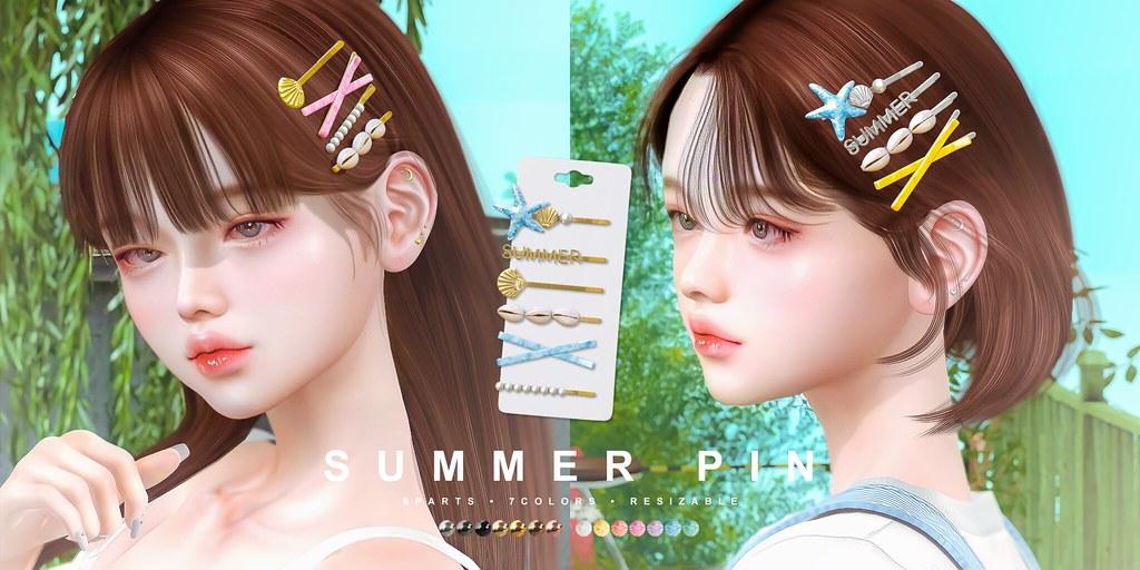 cheezu. summer hair pin x kustom9