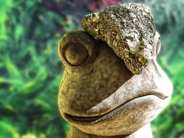 Metallic Stone / Pyrit on the Frog #Pick Two