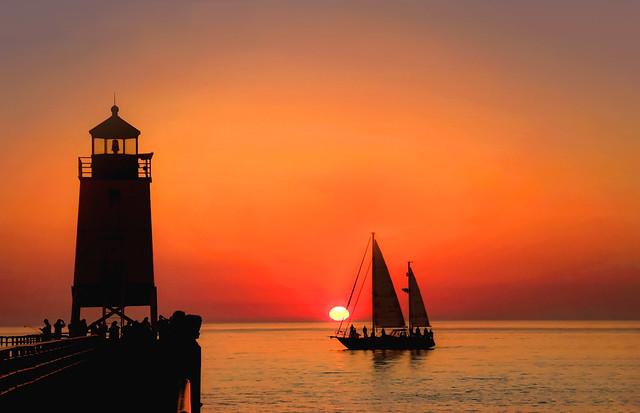 Sunset Sailing (Explored)