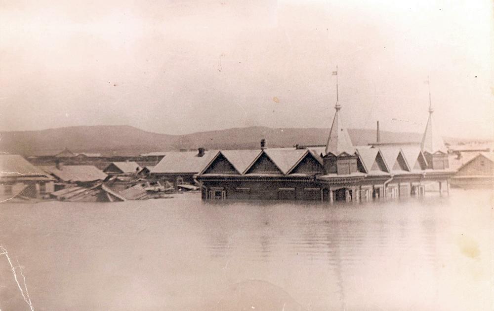 Наводнение из-за разлива реки Супутинка. 1914