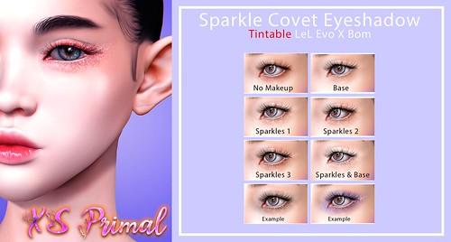 XS Primal EvoX Sparkle Covet Eyeshadow Tintable