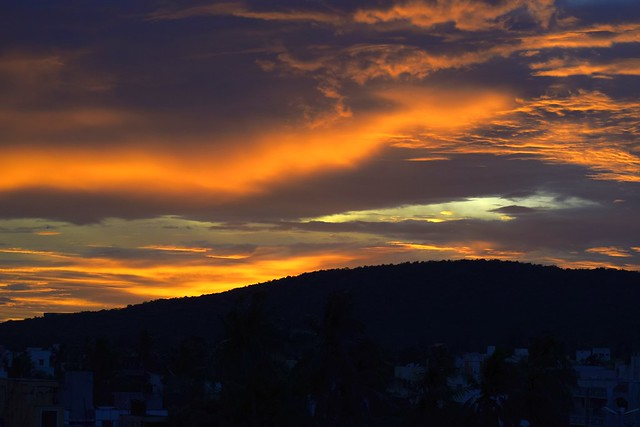 Sky after sun down  - as the rain clouds loom