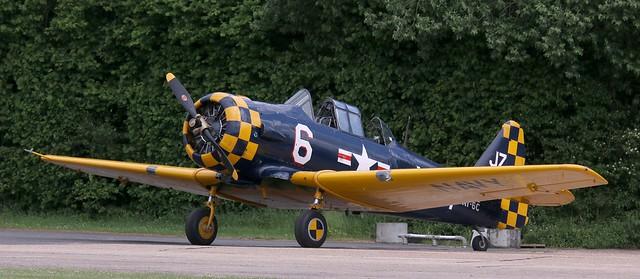G-TSIX (111836)  North American AT-6C-NT Texan Earls Colne 2 140621