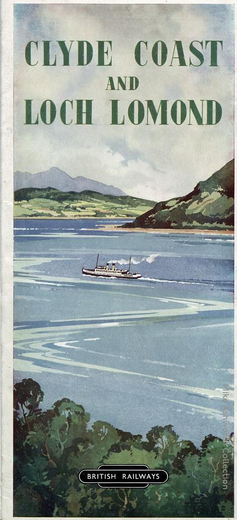 British Railways (Scottish Region) : Cylde Coast and Loch Lomond - tourist brochure, 1950