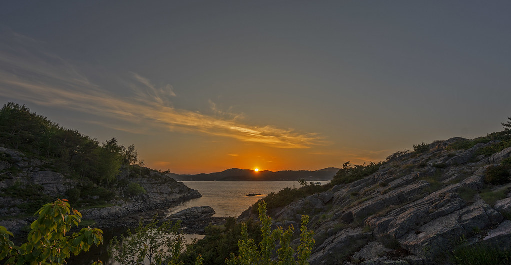 Sunset at Flekkerøy, Norway