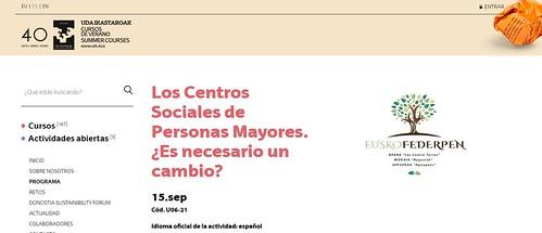 Curso de Verano: Los Centros Sociales de Personas Mayores. ¿Es necesario un cambio?