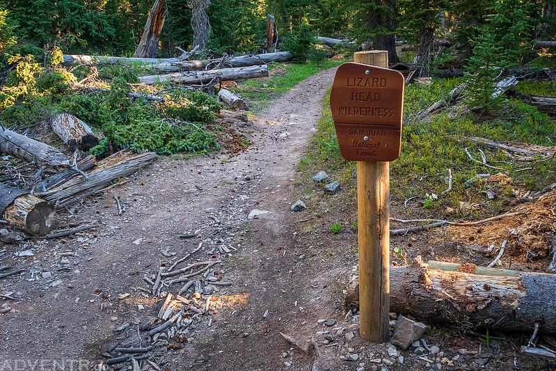 Lizard Head Wilderness Sign
