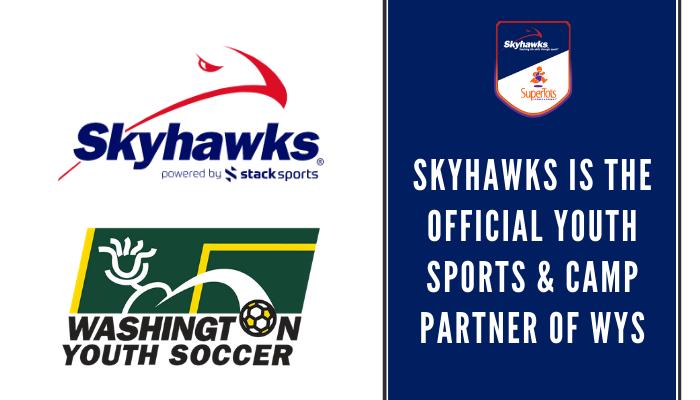 Washington Youth Soccer logo and Skyhawks logo