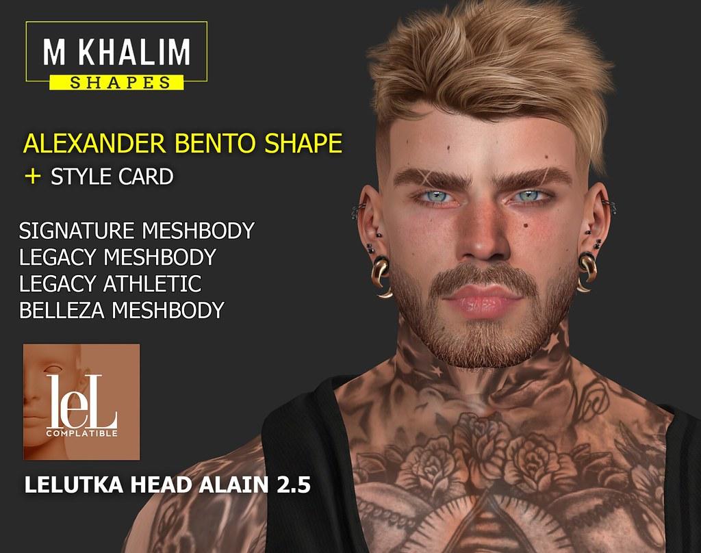 Alexander Bento Shape for Lelutka Alain 2.5