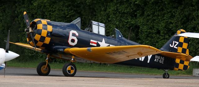 G-TSIX (111836) North American AT-6C-NT Texan Earls Colne 140621